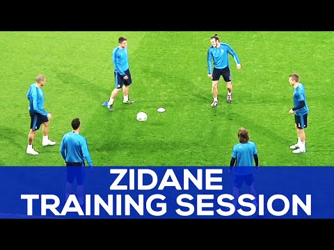 Cristiano has got CRAZY skills   Zidane plays with the ball   REAL MADRID NEWS