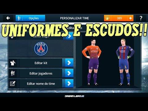 Como colocar kits e logos no Dream league soccer 18 (Uniformes e escudos)!!