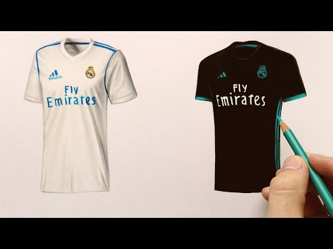 How to draw Real Madrid t-shirt (2018)