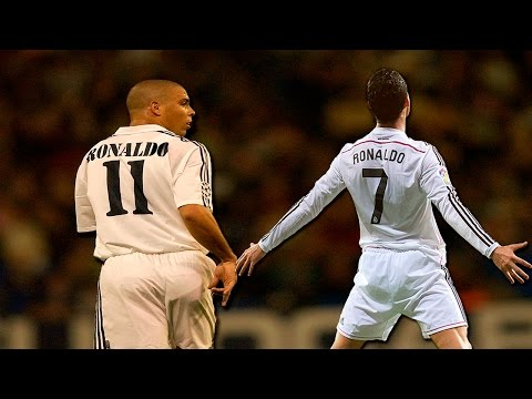 Ronaldo Nazario vs Cristiano Ronaldo / Top 10 goals ever Real Madrid