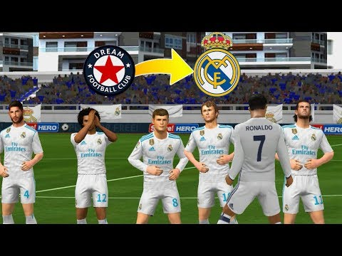 Create Real Madrid Team ★ Kit Logo & Players ★ Dream League Soccer 2018