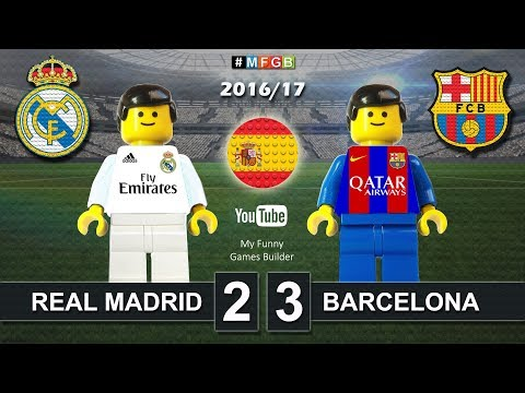 Real Madrid vs Barcelona 2-3 • El Clasico • LaLiga 2017 (23/04/2017) ElClasico Lego Football