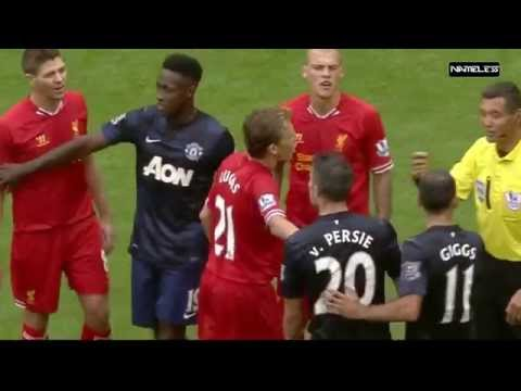 Liverpool vs Manchester United • Fights, Fouls – Referees, Red Cards