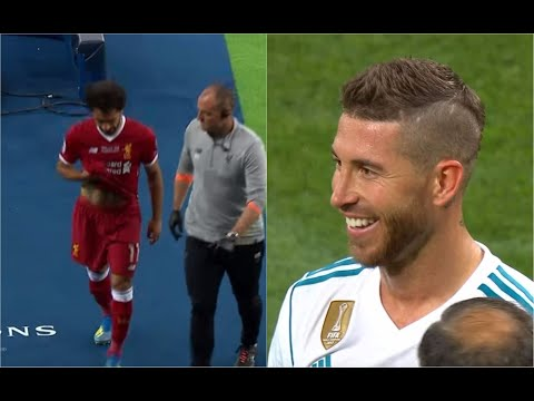 Real Madrid vs Liverpool: Sergio Ramos seen laughing as Mohamed Salah left pitch with injury