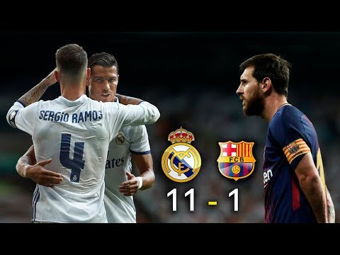 Real Madrid 11 vs Barcelona 1 – El Clásico 2017 – La Liga -Parodia – Messi vs Ronaldo