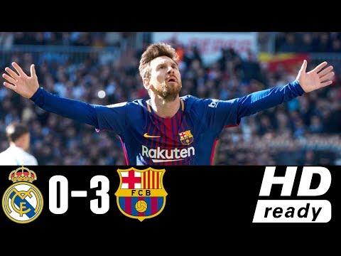 Real Madrid Vs Barcelona 0-3 – All Goals & Highlights – Resumen y Goles 23/12/2017 HD