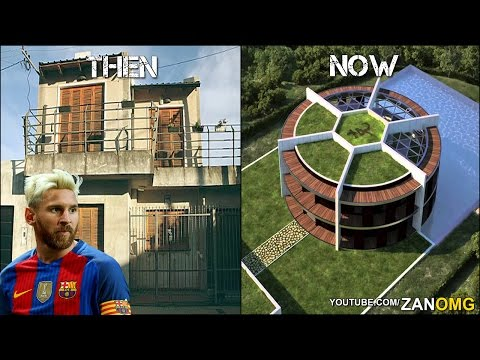 10 Footballers Houses | Then & Now | Ft. Messi, Ronaldo, Neymar…etc