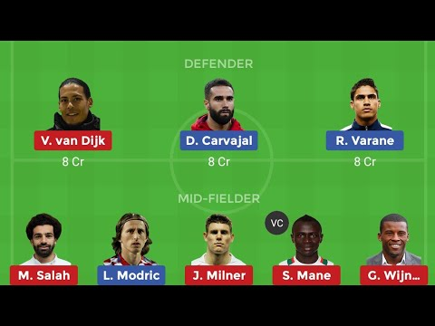RM VS LIV ll REAL MADRID VS LIVERPOOL CHAMPIONS LEAGUE DREAM 11 TEAMS AND PROBABLE 11
