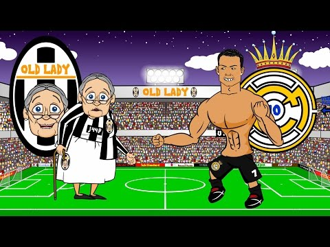 🏆JUVENTUS vs REAL MADRID 2-1🏆 (Parody Champions League Semi-final 2015 Goals Highlights)