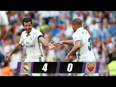 Real Madrid Legends vs AS Roma Legends 4-0 Highlights 11/06/2017