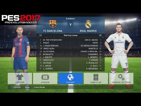 "PES 2017 | FC Barcelona vs Real Madrid "" El Clasico"" 