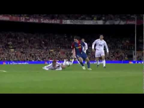 Messi – 19 – makes a hat-trick against Real Madrid (stadium feed, no comms)