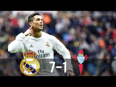 Real Madrid vs Celta Vigo 7-1 – All Goals & Extended Highlights – La Liga 05/03/2016 HD