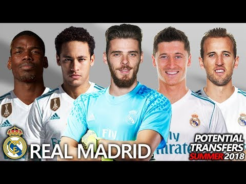 REAL MADRID – POTENTIAL TRANSFERS & RUMOURS SUMMER 2018 | Ft. NEYMAR, POGBA, KANE, DE GEA…
