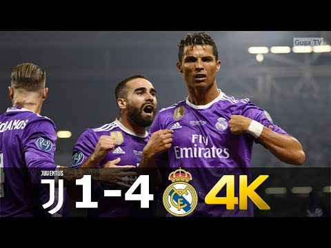 Juventus vs Real Madrid 1-4 – UHD 4k – UCL Final 2017 – Full Highlights (English Commentary)