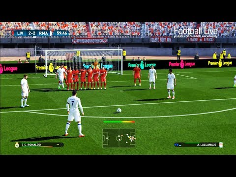 PES 2017 | Liverpool vs Real Madrid | C.Ronaldo Free Kick Goal & Full Match | Gameplay PC