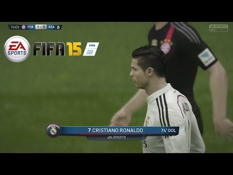 Temporadas Online | FIFA 15 Gameplay en PS4 – Real Madrid Vs Bayern Munich, Delanteros imparables