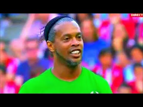 Atletico Madrid vs world legends ⚽️ RONALDINHO ⚽️ Atletico Madrid vs Leyendas del futbol