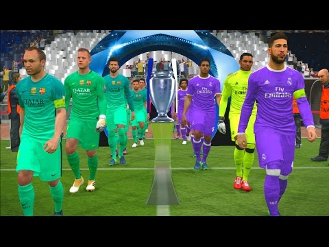 UEFA Champions League Final | Real Madrid vs Barcelona | Penalty Shootout | PES 2017 Gameplay PC