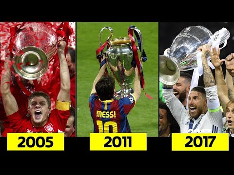 All Champions League finals 2005 – 2017