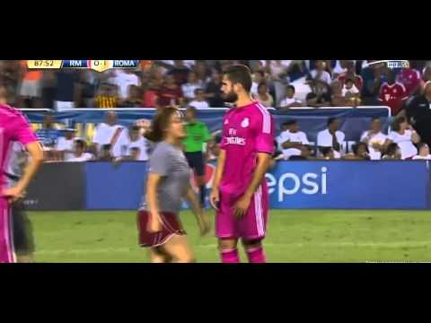 Madrid Fans Run on the Field ● Real Madrid vs Roma 0-1 – International Champions Cup 2014