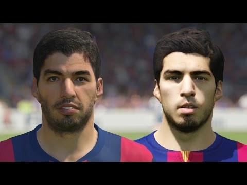 FIFA 15 vs PES 2015 Head to Head Faces – Barcelona