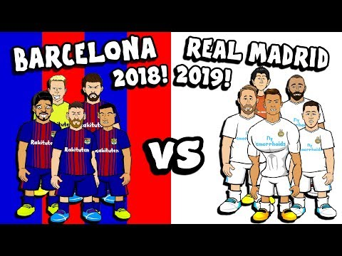 🔵🔴BARCELONA 2018 vs REAL MADRID 2019⚪⚪ 5-a-side CHALLENGE!
