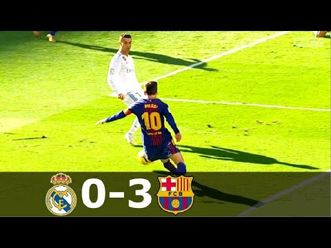 Real Madrid vs Barcelona 0-3 – La Liga 2017/2018 – Full Highlgihts (English Commentary) HD 1080i