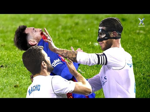 El Clasico ● Fights, Fouls, Tackles & Red Cards ● HD