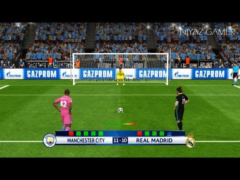 MANCHESTER CITY vs REAL MADRID | Penalty Shootout | PES 2017 Gameplay