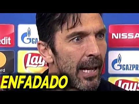 Increible enfado de Gianluigi Buffon tras el robo del Real Madrid a la Juventus en Champions