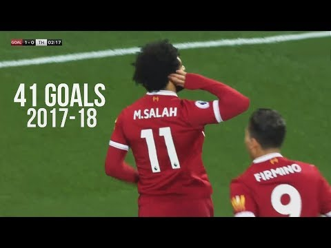 Mohamed Salah First 41 Goals in 2017/18 for Liverpool and Egypt