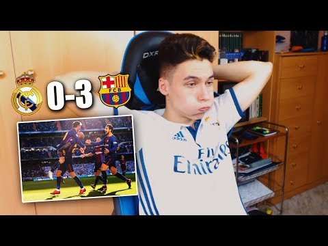 REACCIONES DE UN HINCHA Real Madrid vs Barcelona 0-3 CLASICO 2017