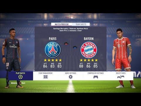 FIFA 18 | PSG vs Bayern Munich | Full Match Gameplay (PS4/XBOX ONE) HD 1080p