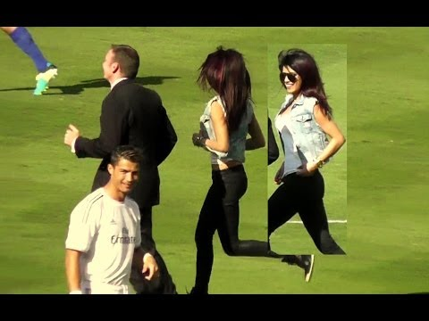 Priyanka Chopra + Cristiano Ronaldo at Dodger Stadium Los Angeles – Real Madrid vs Everton