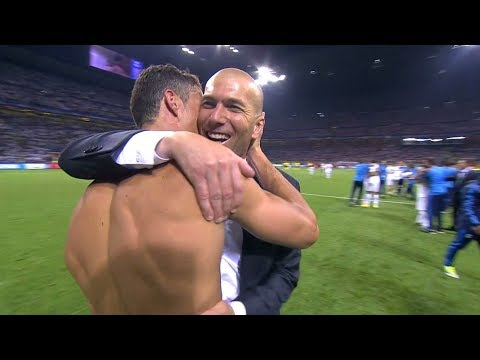 Zidane Reactions to Cristiano Ronaldo Moves & Goals HD