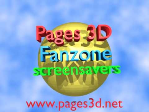 Screensavers and Wallpapers in 3D – Logo of Pages 3D