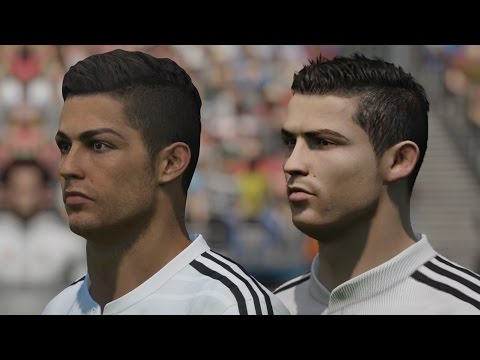 FIFA 15 vs PES 2015 Head to Head Faces – Real Madrid