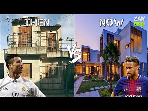 FC Barcelona vs Real Madrid Players Houses | Then & Now | Ft. Messi, Ronaldo, Neymar…etc