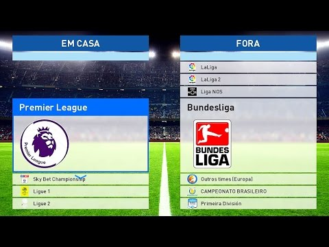 PES 2017 – OPTION FILE DOWNLOAD e TUTORIAL (Bundesliga, Premier League, Real Madrid e Brasileirão)