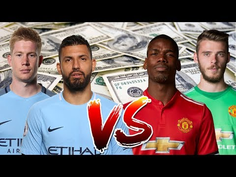 Man Utd Player Salaries VS Man City Player Salaries 2017/18