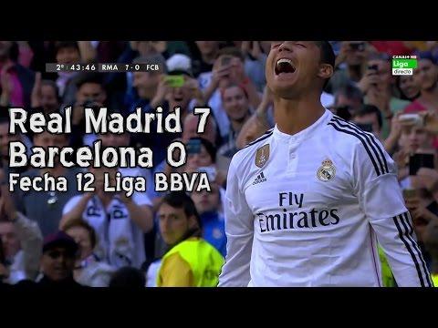 Real Madrid 7 Barcelona 0 – Liga BBVA Fecha 12 (Parodia)