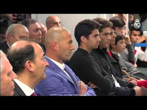 Florentino Pérez presents Zinedine Zidane as the new Real Madrid coach