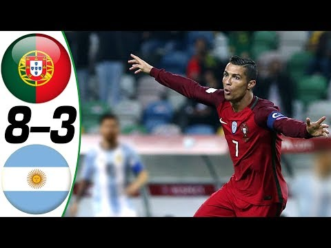Portugal vs Argentina 8-3 – All Goals & Highlights Résumé & Goles (Last 4 Matches) HD