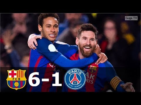 Barcelona vs Paris Saing Germain 6-1 – UCL 2016/2017 – Highlights (English Commentary) HD
