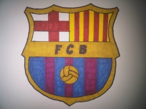 How to Draw the FC Barcelona logo (Cómo Dibujar el logo del FC Barcelona)