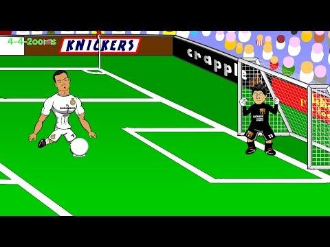 Real Madrid v Barcelona 3-1 El Clasico 25.10.2014 (Goals,highlights,Pepe, Benzema, Ronaldo, Cartoon)