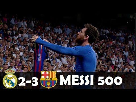 Real Madrid 2 x 3 Barcelona – MELHORES MOMENTOS COMPLETO – MESSI MONSTRO DECIDE ! La Liga 2017