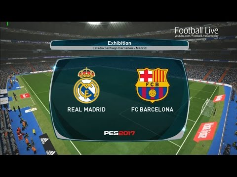 PES 2017 | El Clasico – Real Madrid vs FC Barcelona | Full Match & Hat tricks Ronaldo and Neymar