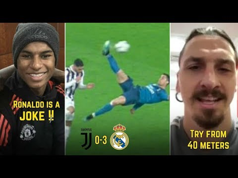 Players Reaction To Juventus vs Real Madrid 0-3 | ft. Ronaldo, Zlatan, Rashford